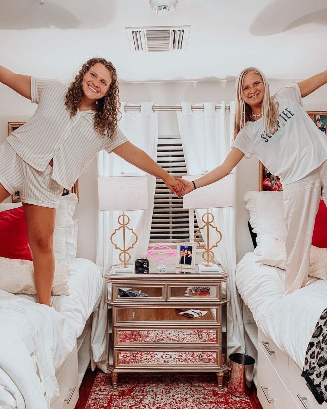Dorm room ideas lofted bed