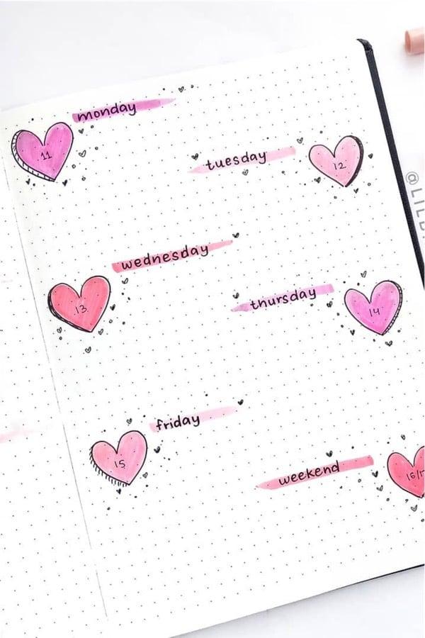 Bullet journal doodles cute