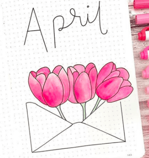 April bullet journal cover ideas