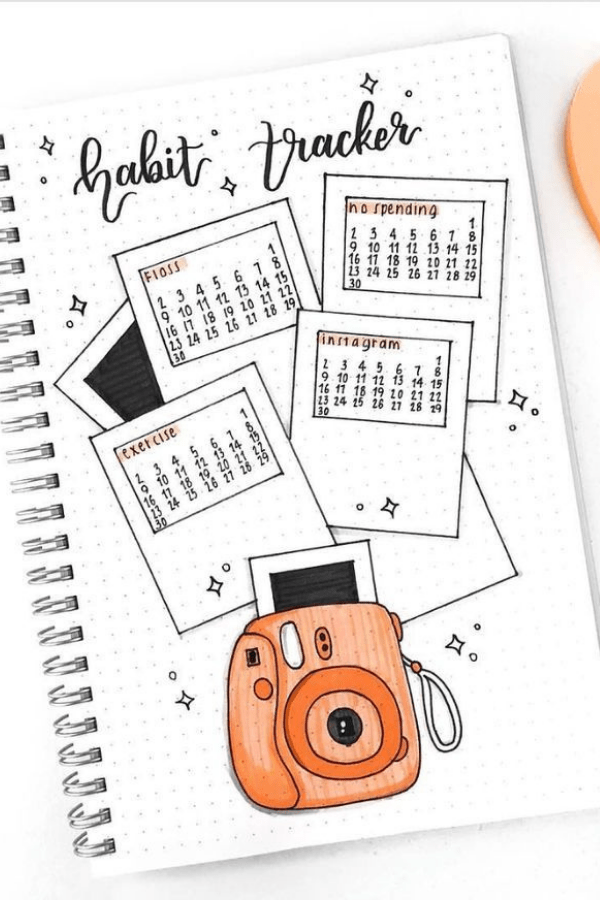 March bullet journal cover ideas