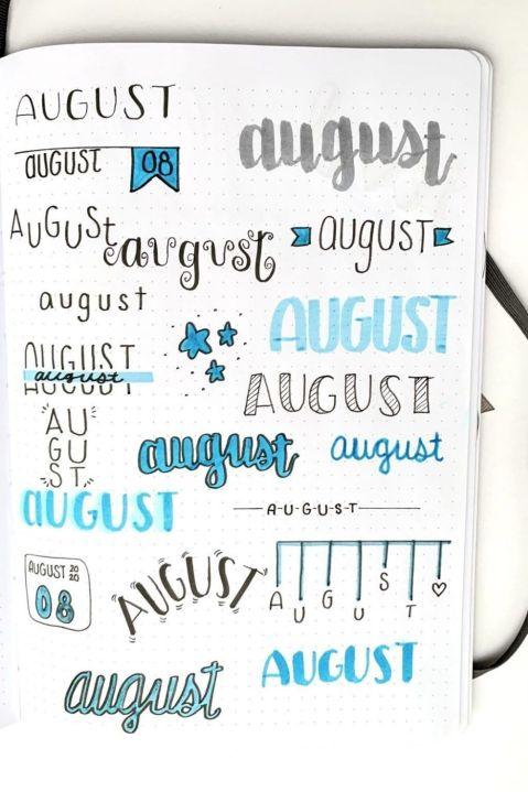 bullet journal goals page