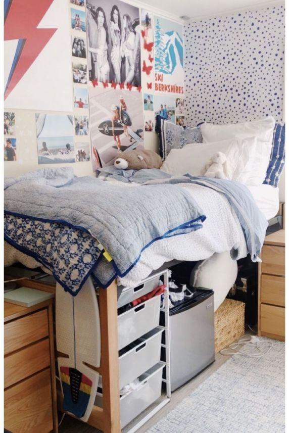 dorm room girl bedding