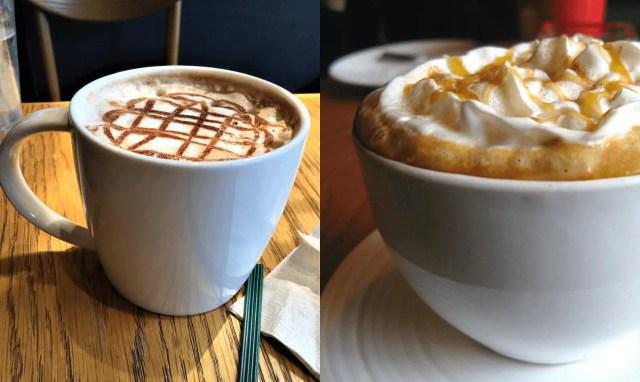 Caramel Macchiato And Caramel Latte