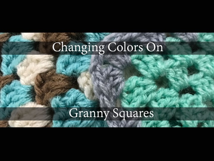 How to change colors when working with Granny Squares.