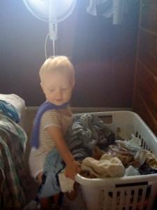 Baby E in his boa