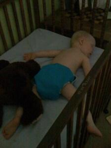 Baby E and bear