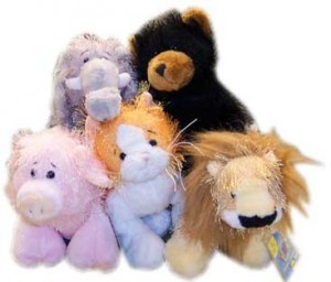 webkinz-example cat pig lion bear elephant