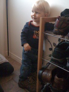 e in really big shoes