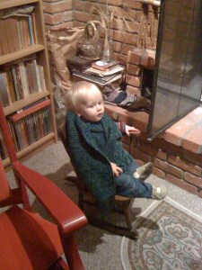 E by the fire, December 2009