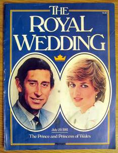charles and diana royal wedding magazine cover