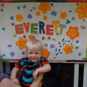 E's second birthday poster