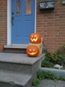scary pumpkin, silly pumpkin