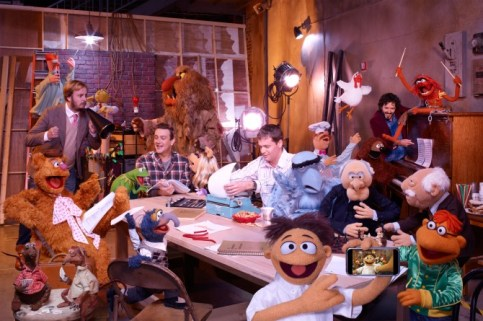 muppets movie filmmakers jason segel bret mckenzie james bobin nick stoller