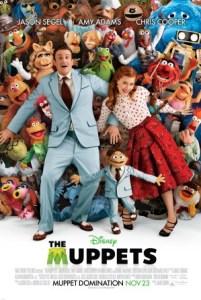 the muppets movie poster jason segel amy adams