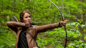 jennifer lawrence katniss bow and arrow