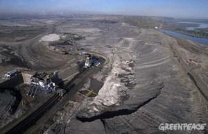 Suncor company mining for oil from tarsand. Alberta, Canada