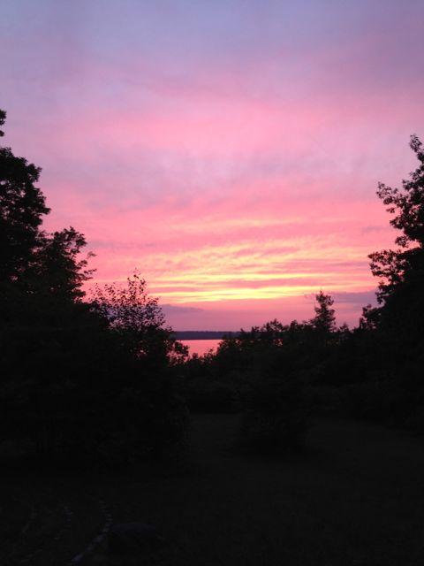 sunset at Camp NeeKauNis