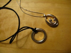cremation jewelry - eternity circle, mother and child