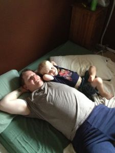 relaxing with Daddy