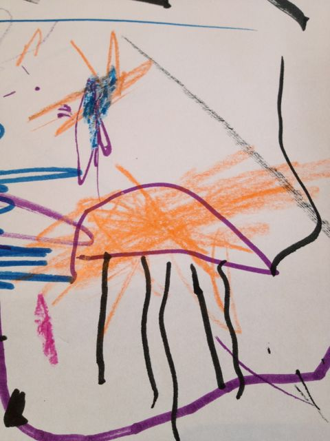 three-year-old's drawing of an elephant