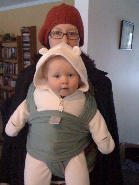 E baby snowsuit