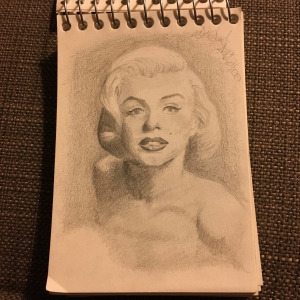 marilyn monroe drawing 5-day artist challenge