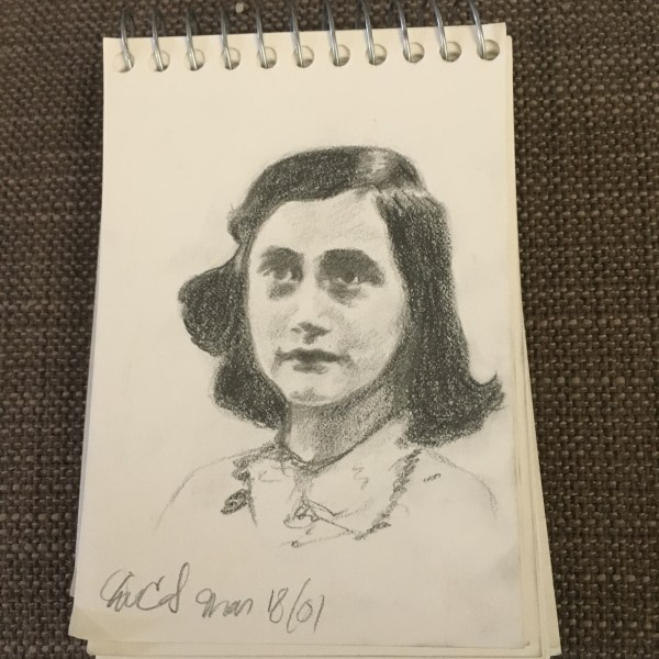anne frank drawing 5-day artist challenge visual art
