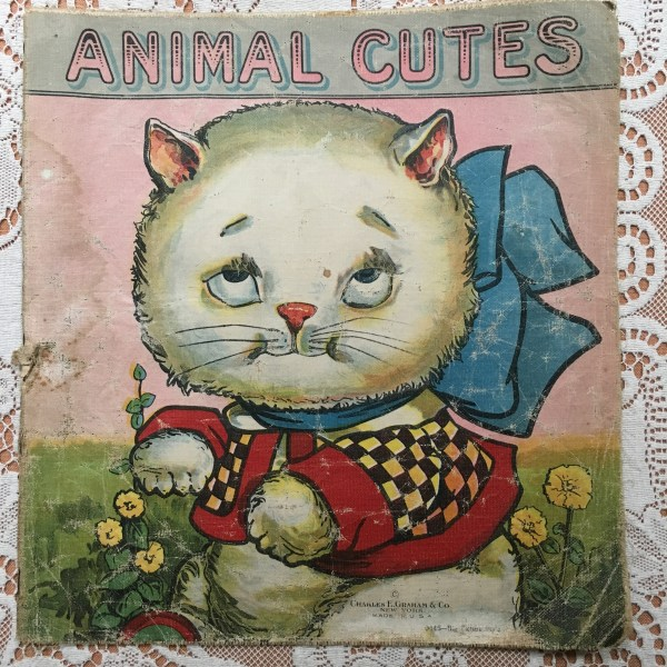 antique children's animal book