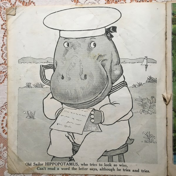 antique-children-book-hippopotamus