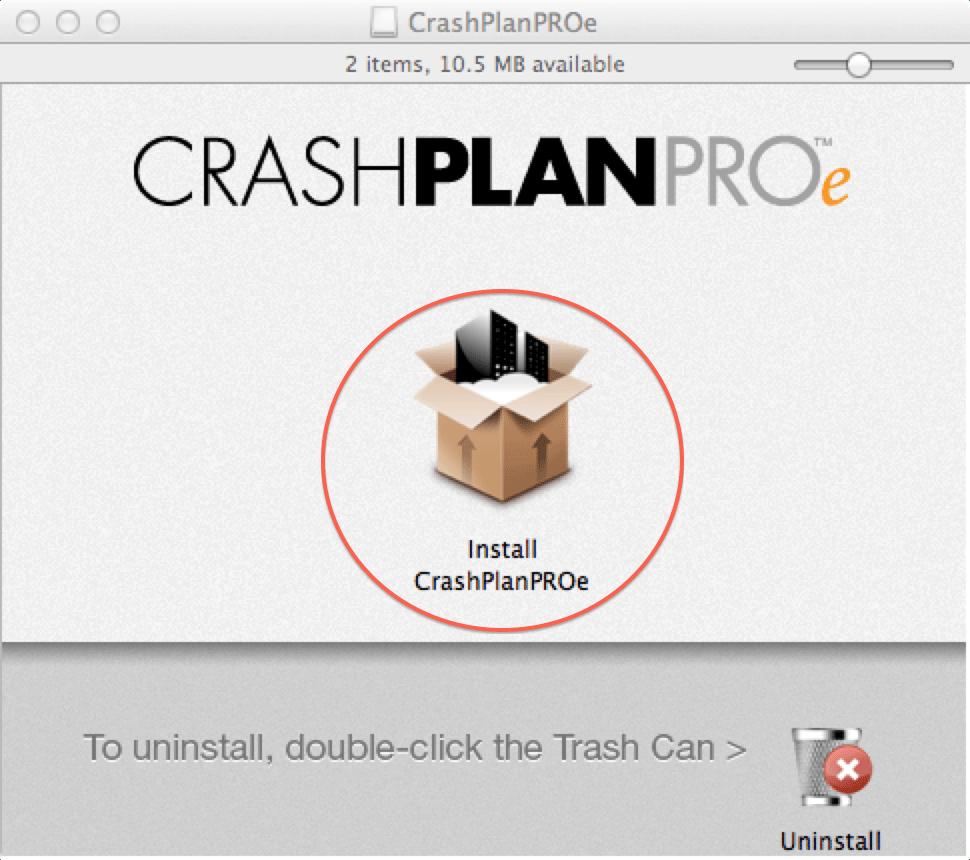 Installing CrashPlan PROe