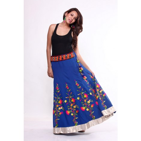 Ethnic-Flared-Multicoloured-Skirt-Clothing-Ethniche