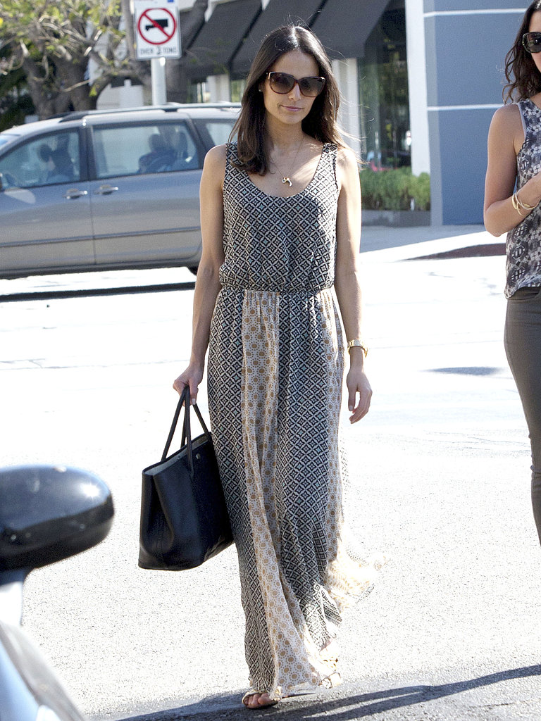 Jordana-Brewster-printed-maxi-dress-perfect-Spring-style