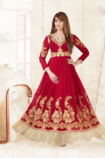 Anarkali dress for Diwali 2014