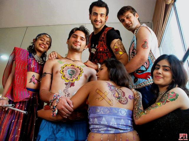 navratri boys tattoo images