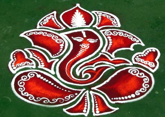 Lord Ganesha Latest Beautiful Images ganesha rangoli designs