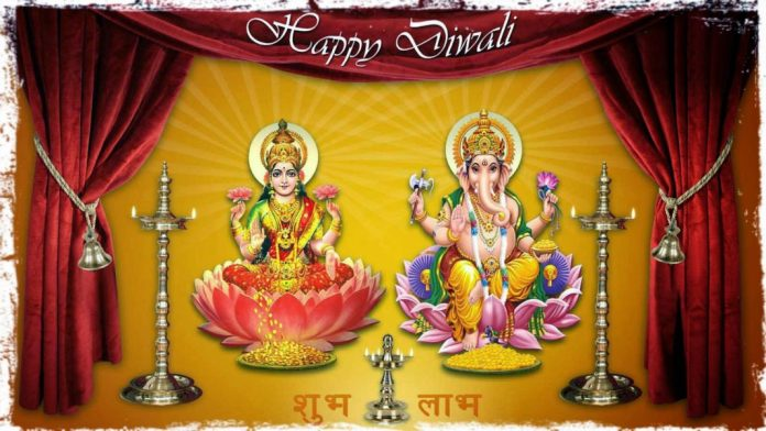 Happy Diwali Ganesh Laxmi Wallpaper HD