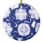 Dellani Oakes Zazzle Have a Happy Hanukkah Ceramic Ornament