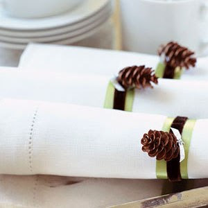 cute pine cone napkin rings