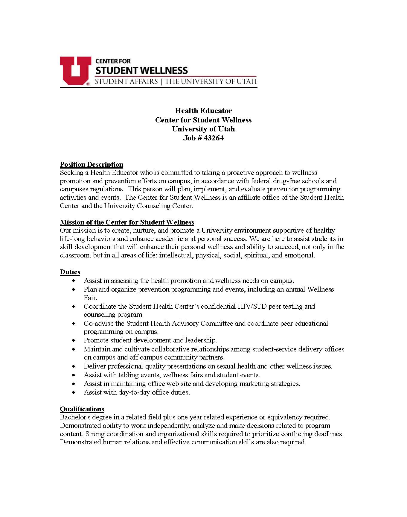 Wellness Manager Cover Letter - Cover Letter Resume Ideas ...