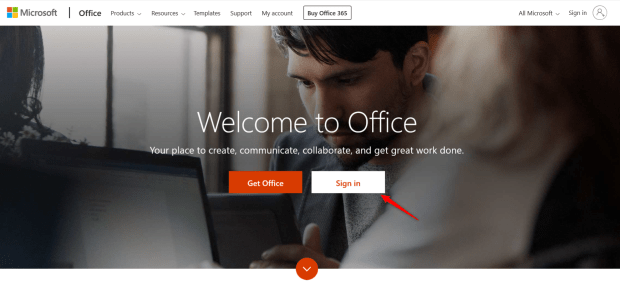 Go to Microsoft Office 365 home page and sign into the organization you created in Step 9.