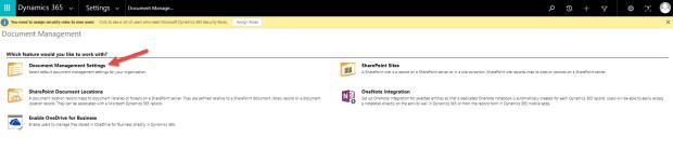 Document Management Settings