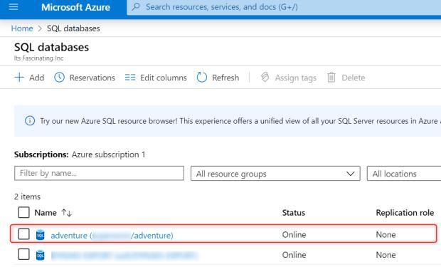 List Of SQL databses