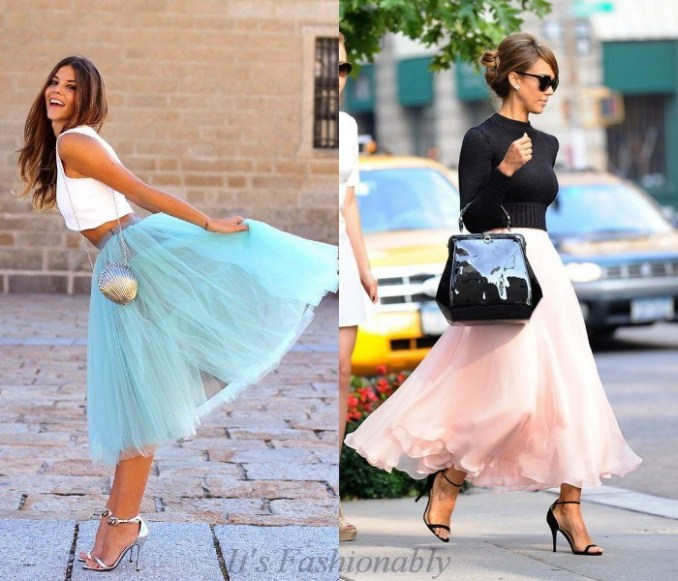 How to wear a fluffy skirt