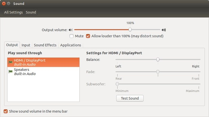 Fix No Sound Through HDMI In External Monitor In Ubuntu Linux - It's