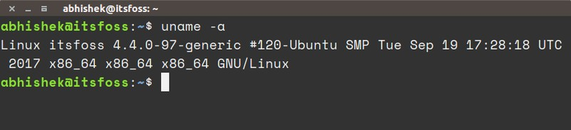 Checking Linux kernel version in command line