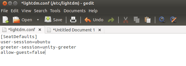 Disable Guest Session Account in Ubuntu 13.04
