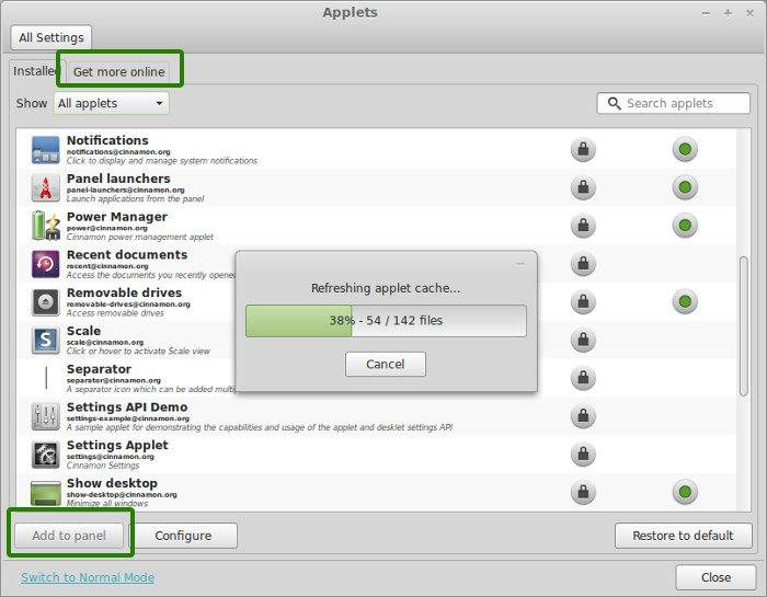 Installing applets in one of the first few things to do after installing Linux Mint 16