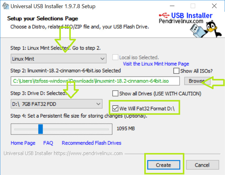 Create live USB of Linux Mint in Windows