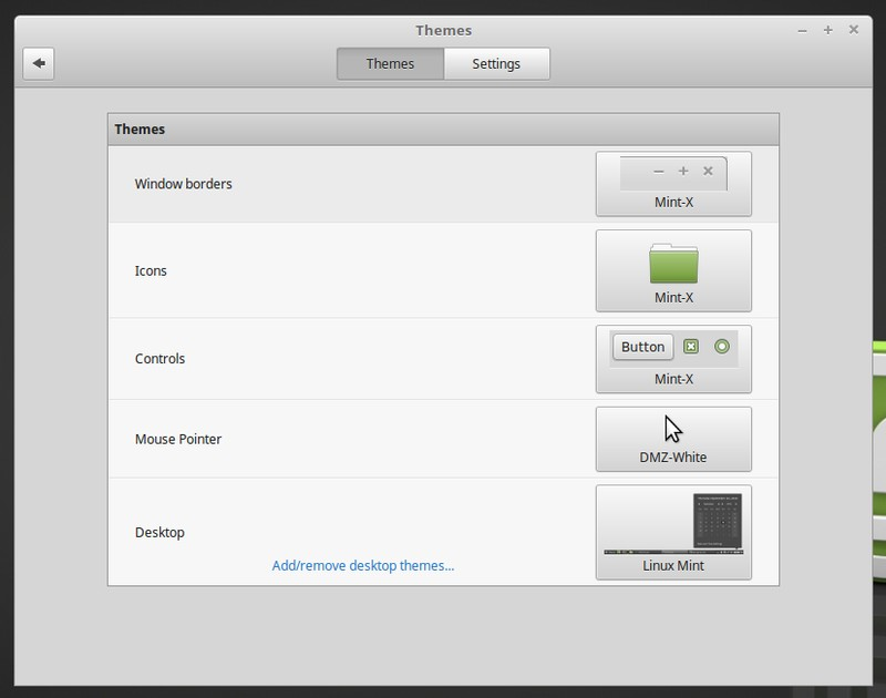 Desktop customization in Linux Mint