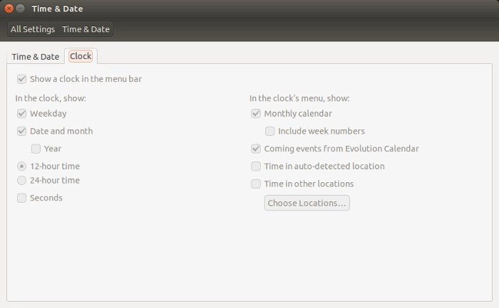 Time and date settings greyed out in Ubuntu 14.04